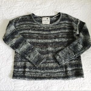 Kensie Cropped Striped Sweater